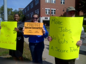 Senator's jobs fair meets with protests