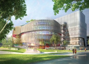 An illustration of the Interdisciplinary Science and Engineering Complex. (Courtesy Image)