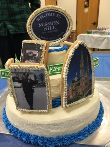 The Mission Hill Crime Committee celebrated its 32nd birthday April 28 at Mission Church. Jeannine Barry baked this cake for the celebration.    Courtesy Photo by Toni Ann Komst